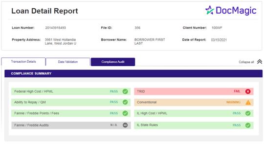 DocMagic's Loan Detail Report