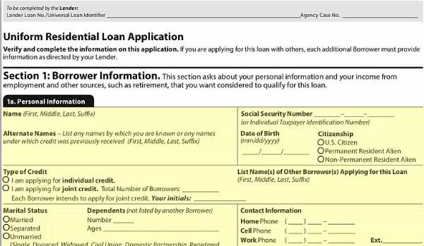 The updated version of the Uniform Residential Loan Application will be required starting March 1 for lenders who plan to sell their closed loans to Fannie Mae and Freddie Mac.
