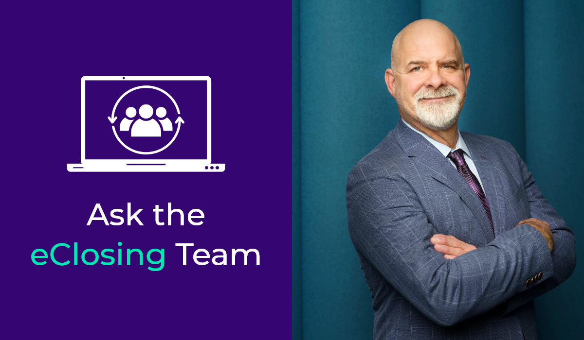 Ask the eClosing Team is a series where DocMagic's experts tackle lenders' questions. Dan McGrew tackles this question.
